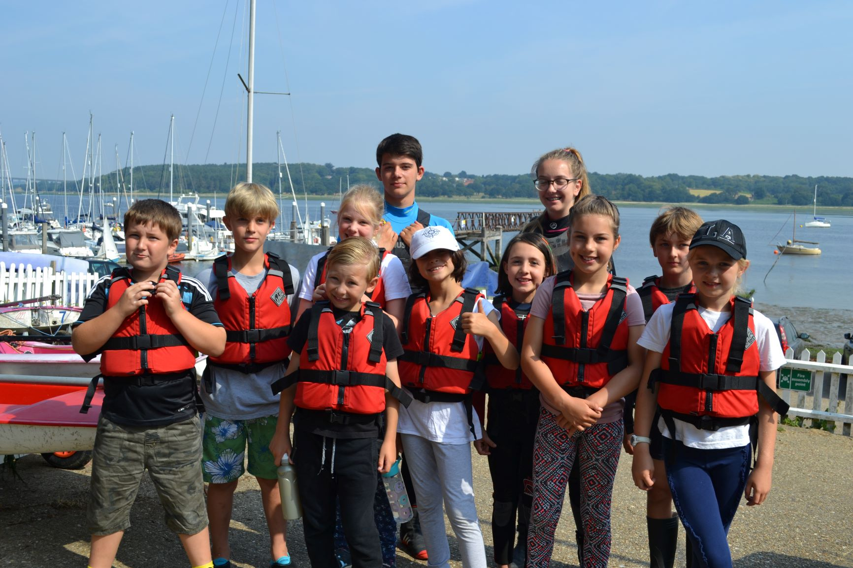 Youngsters with our new buoyancy aids